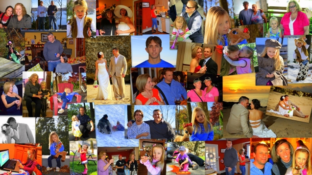 Vivid Family Photo Collage 2011