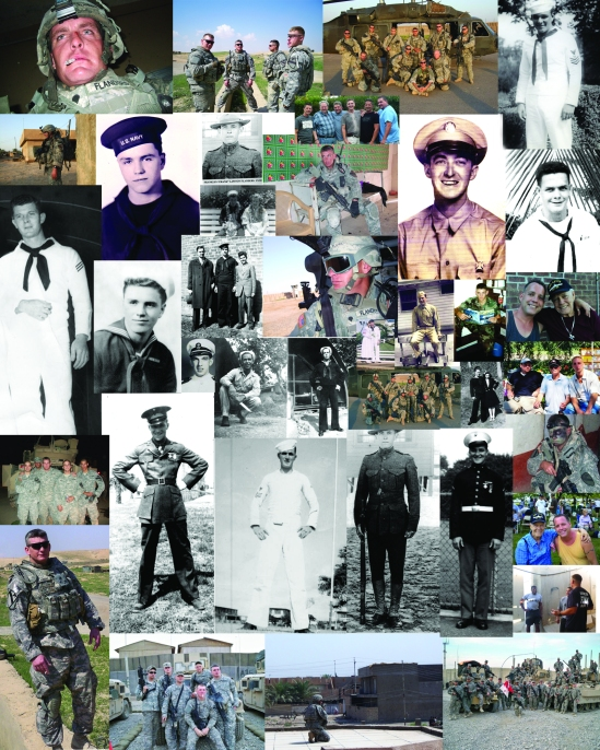 Family Military Service photo collage