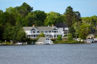 Lake Hopatcong Estate seen from State Park by MoeR
