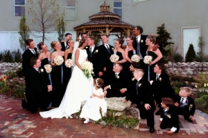 Keri and James Brugger Wedding-photo restoration