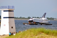 Shuttle Enterprise at Breezy Point Watchtower on Jamaica Bay June 3, 2012.