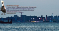 Coney Island w Crane Wide After Sunset