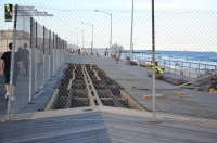 Rockaway Beach Decaying Boardwalk Under Repair