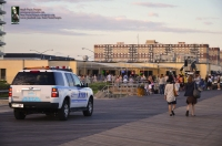 NYPD SUV and HIPSTERS at Boardwalk Concessions