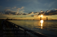 Sunset Jamaica Bay - Verrazano under Marine Park Bridge