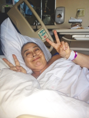 Lupe Falter in Hospital